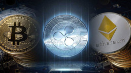 Bitcoin Ethereum and XRP banner
